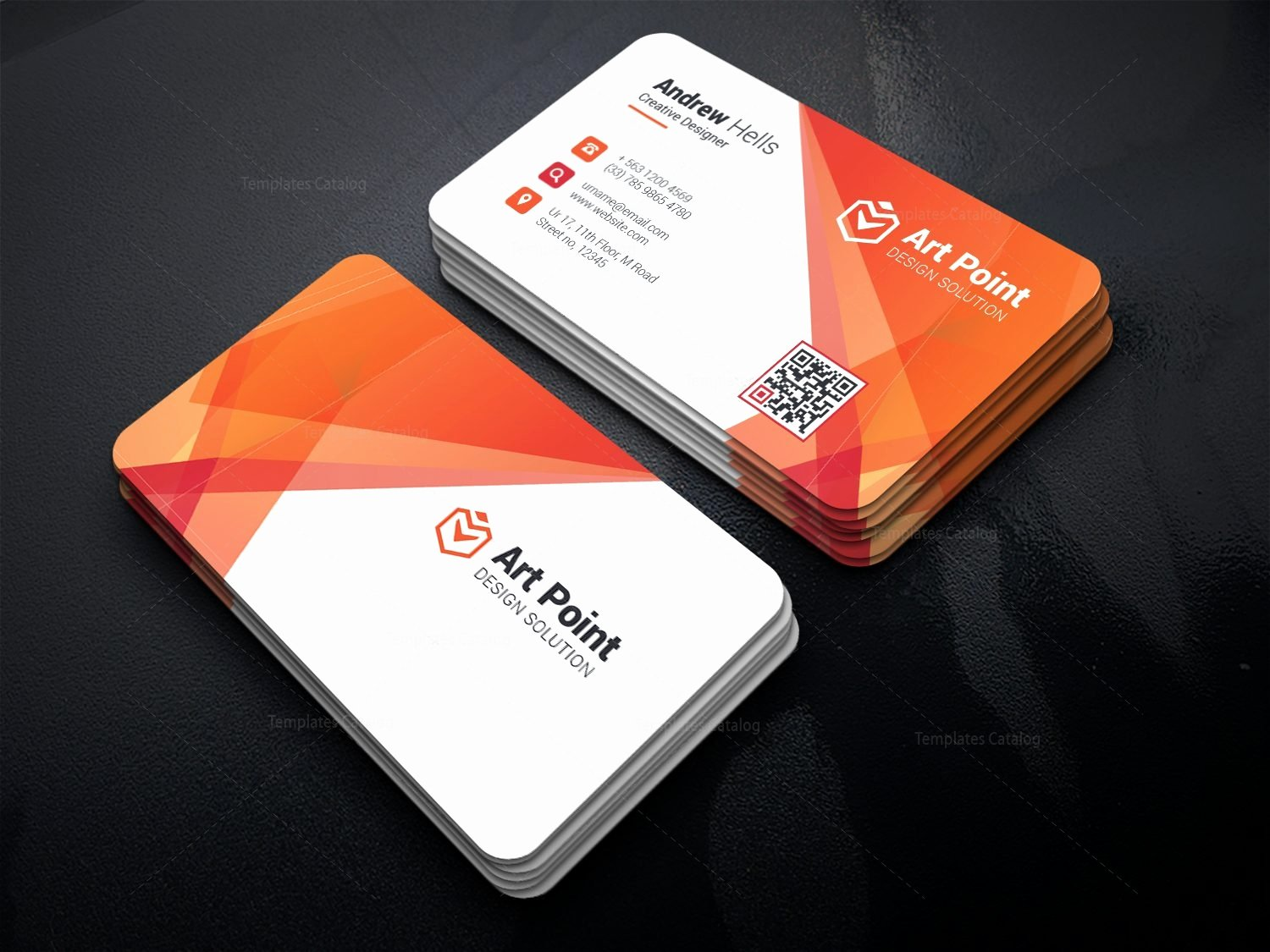 Professional Business Card Template Lovely Alastor Professional Corporate Business Card Template