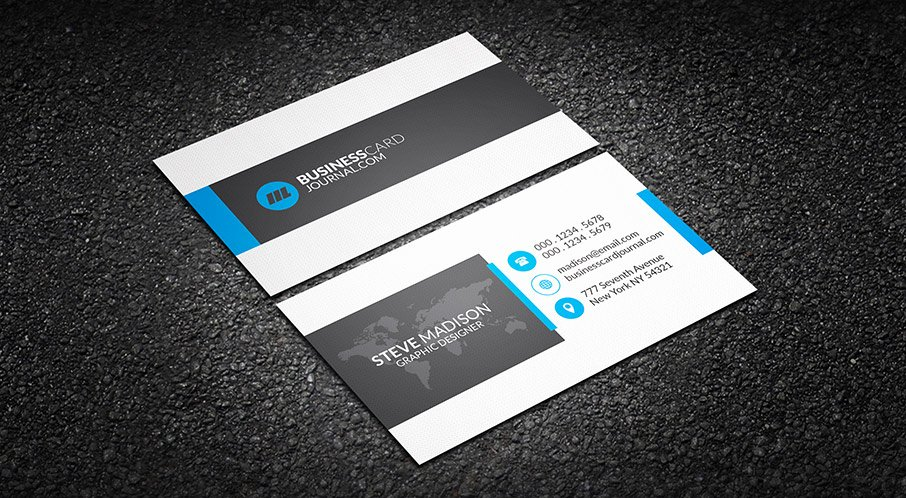 Professional Business Card Template Lovely Free Clean Corporate Professional Business Card Template