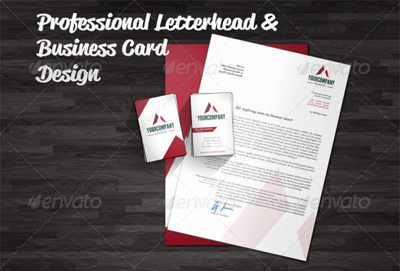 Professional Business Card Template Luxury 37 Professional Letterhead Templates Free Word Psd Ai