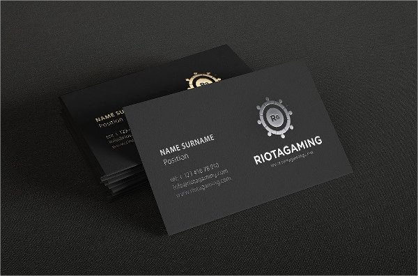 Professional Business Card Template Luxury Professional Business Card Black