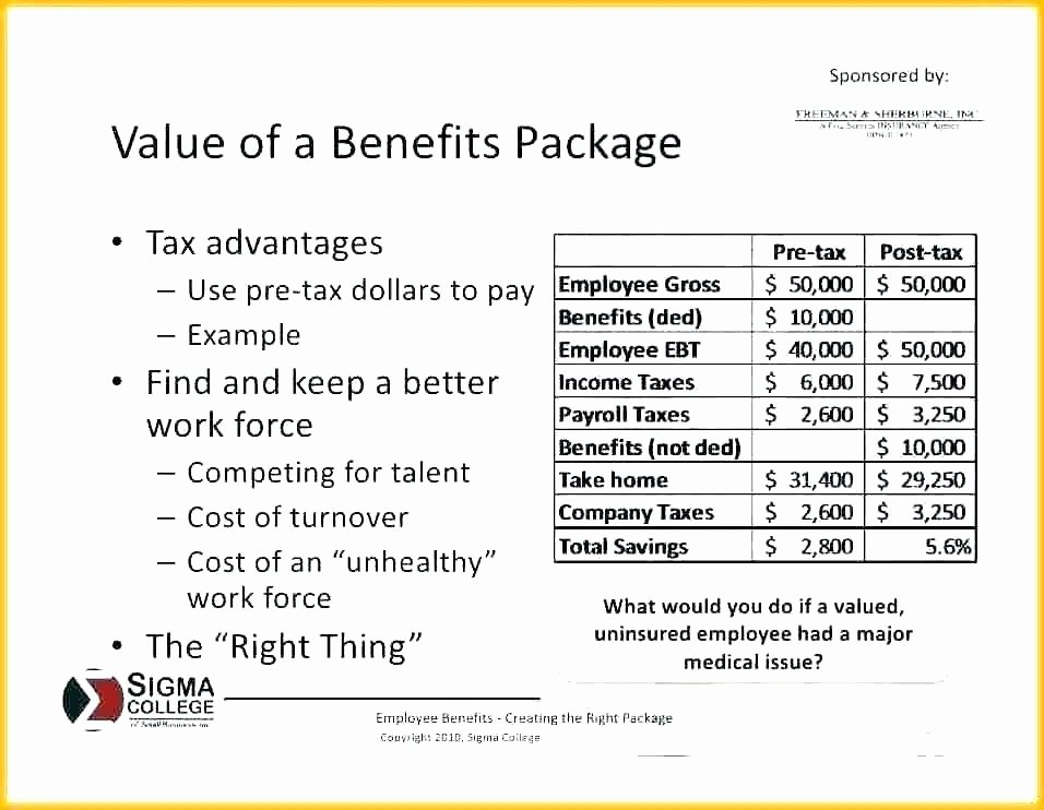 Professional Compensation Plan Template Best Of Pensation Package Template to Employee Benefits Package