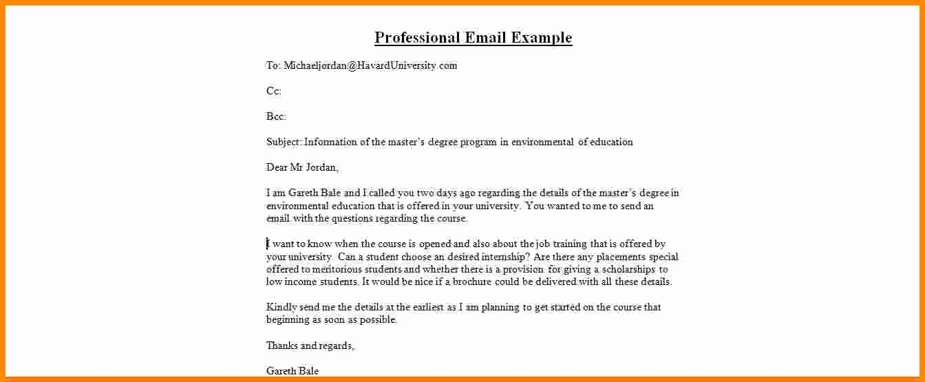 Professional E Mail Template Best Of 12 How to Write Professional Email format