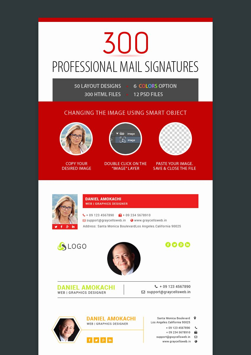 Professional E Mail Template Elegant 12 Professional HTML Psd Email Signature Templates