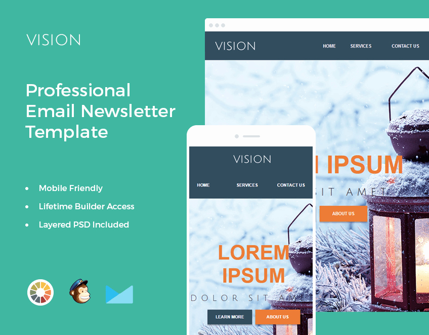 Professional E Mail Template Inspirational Bundle Of 14 Email Newsletter Templates Mailchimp