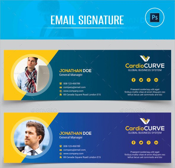 Professional Email Template Free Beautiful 24 Sample Email Signatures
