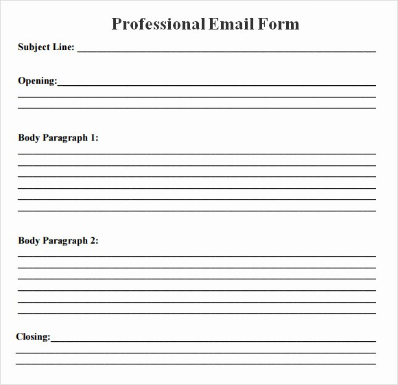 Professional Email Template Free Beautiful 8 Sample Professional Emails Pdf