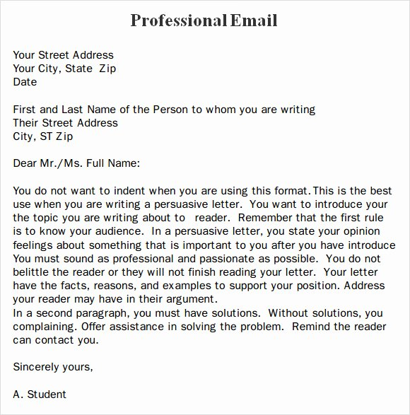 Professional Email Template Free Best Of Professional Email – 7 Samples Examples format
