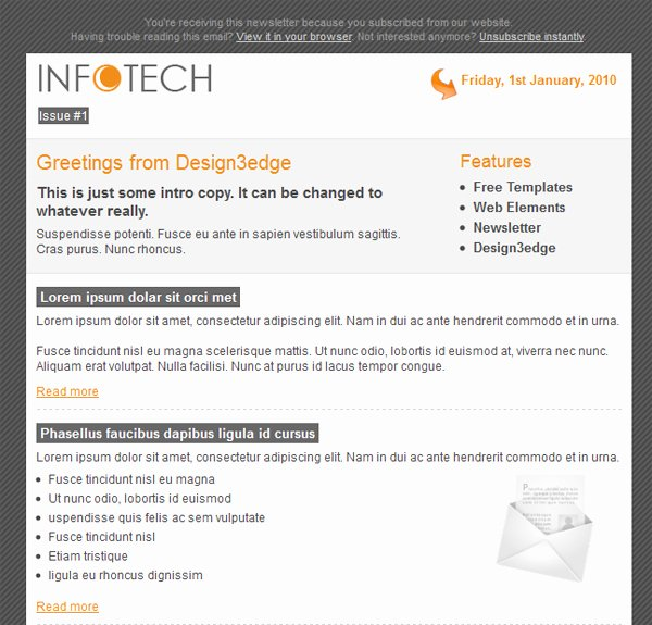 Professional Email Template Free Elegant Professional Free Email Template