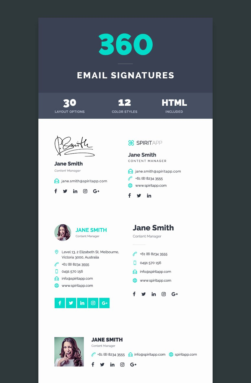 Professional Email Template Free Inspirational 18 Professional HTML Psd Email Signature Templates