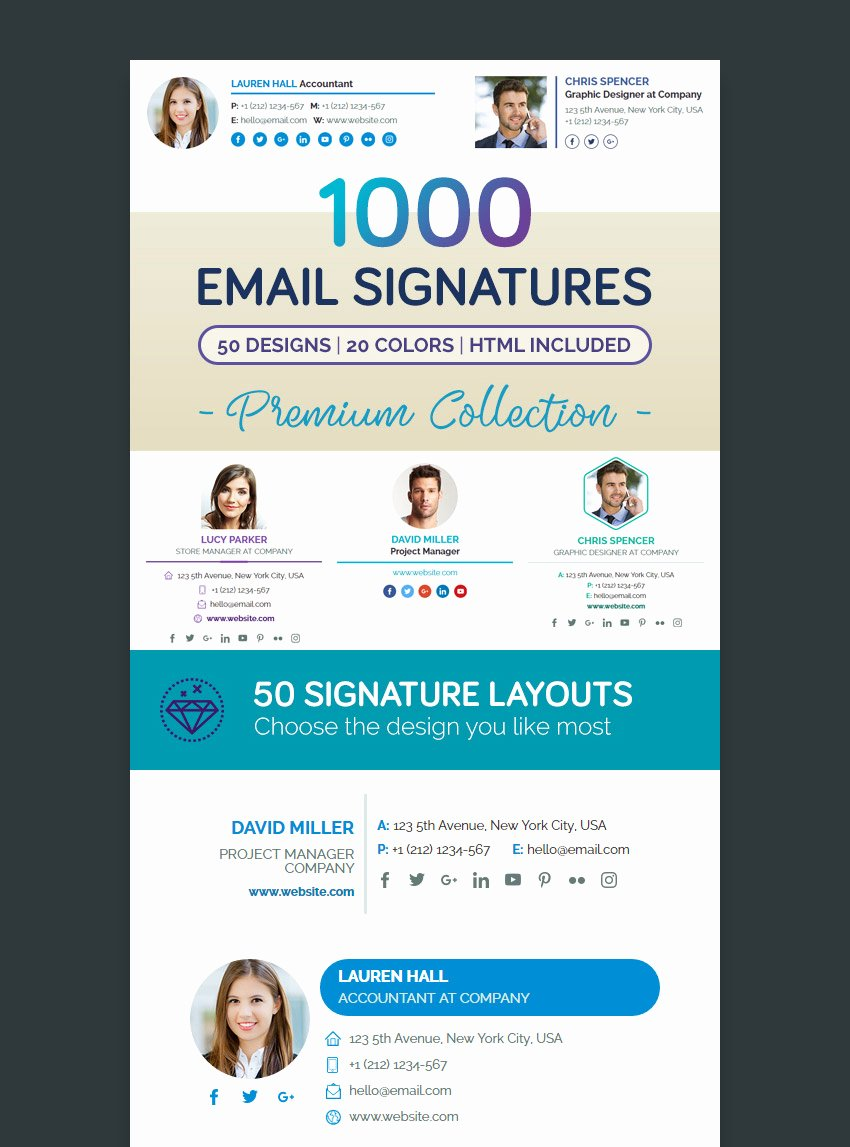 Professional Email Template Free Lovely 18 Professional HTML Psd Email Signature Templates