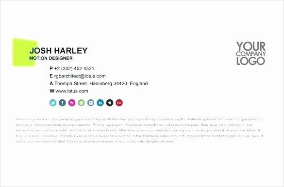 Professional Email Template Free Lovely Professional Email Signatures Template – Onairprojectfo