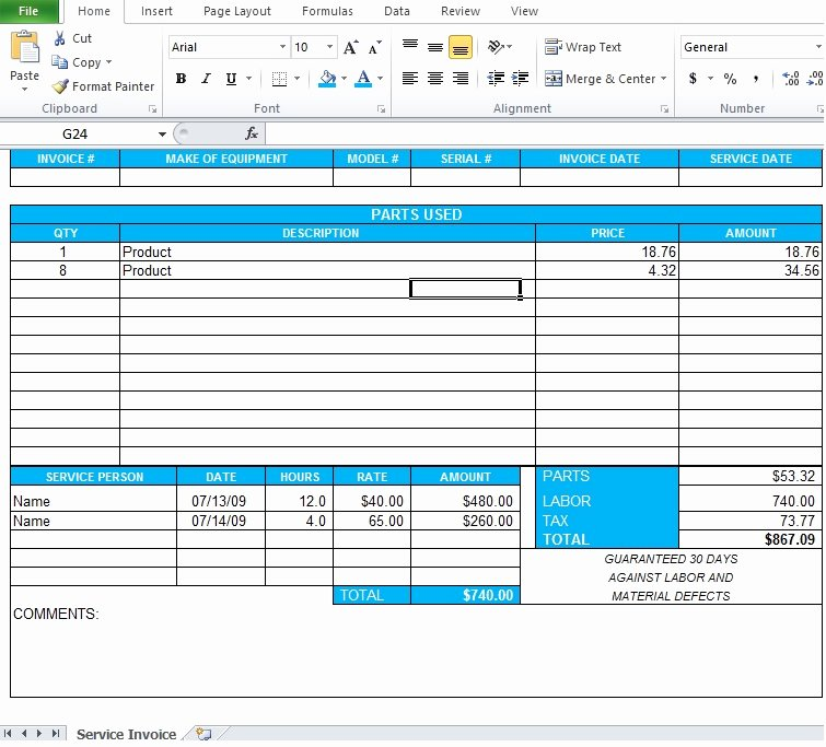 Professional Services Invoice Template New Professional Service Invoice Template Excel Excel Tmp