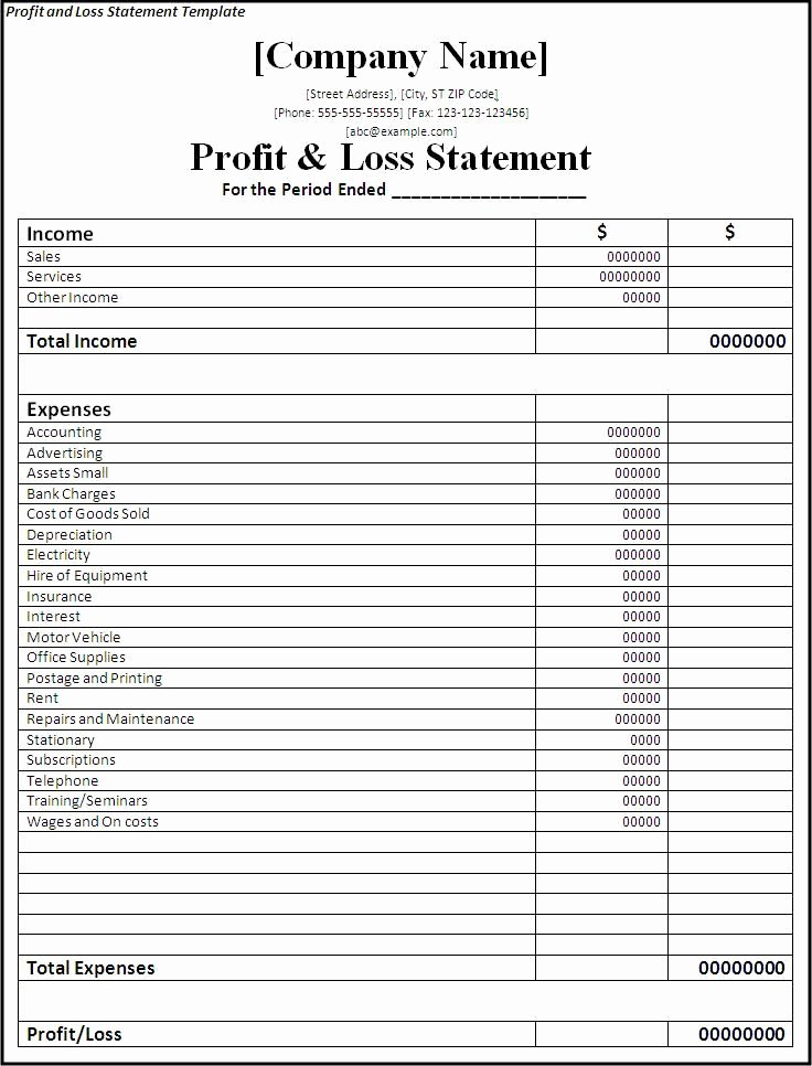 Profit and Loss Sheet Template Unique 17 Best Ideas About Financial Statement On Pinterest