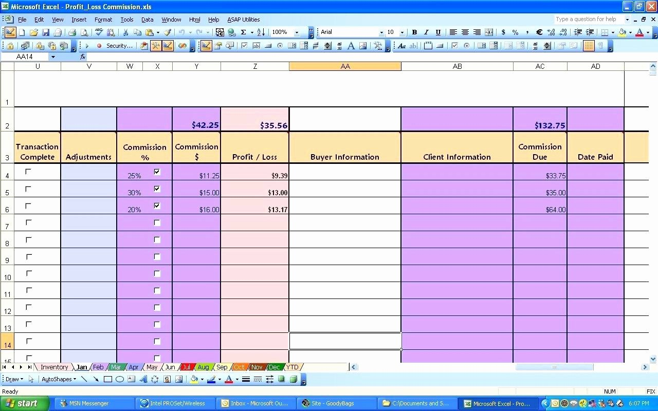 Profit Loss Excel Template Beautiful Profit Loss Excel Template