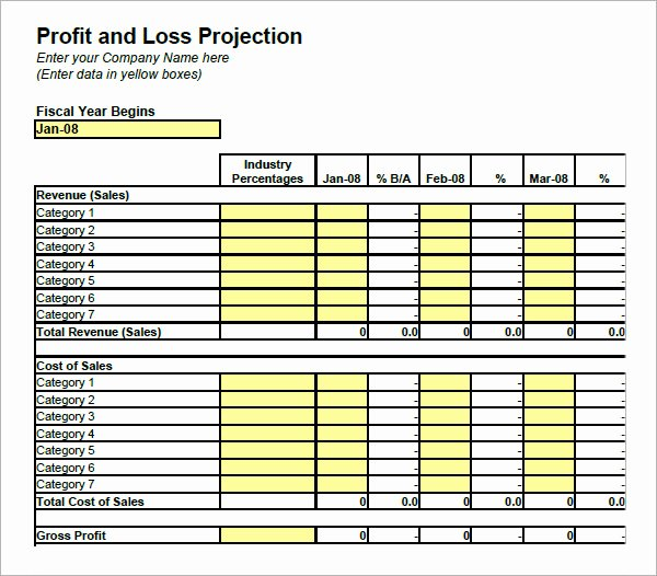 Profit Loss Excel Template Elegant 20 Sample Profit and Loss Templates Docs Pdf Apple