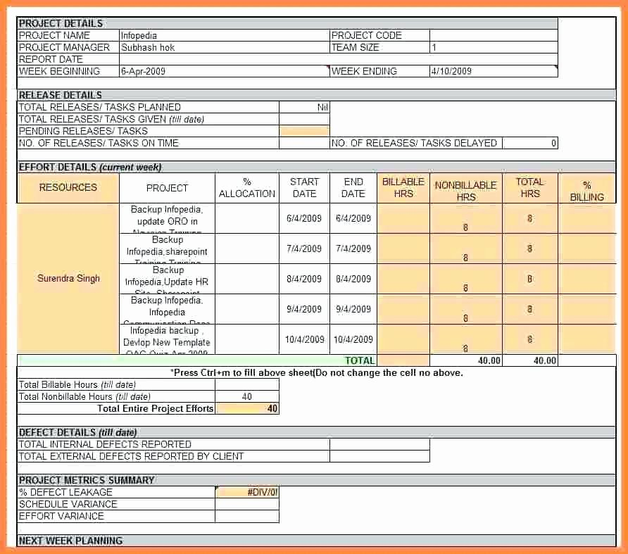 Progress Report Template Excel Awesome Multiple Project Status Report Template Excel Weekly 2