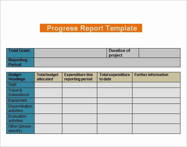 Progress Report Template Excel Elegant Progress Report Templates 7 Free Documents In Pdf Word
