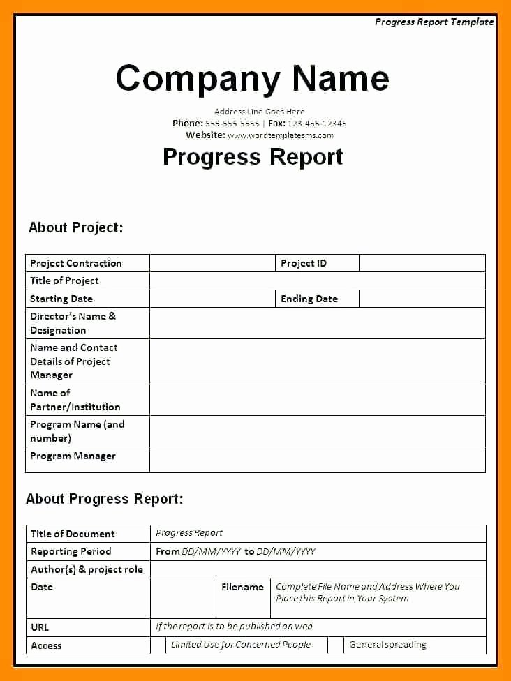 Progress Report Template Excel Inspirational Construction Daily Progress Report form Template Project