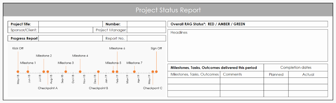 Progress Report Template Excel New Using Excel for Project Management