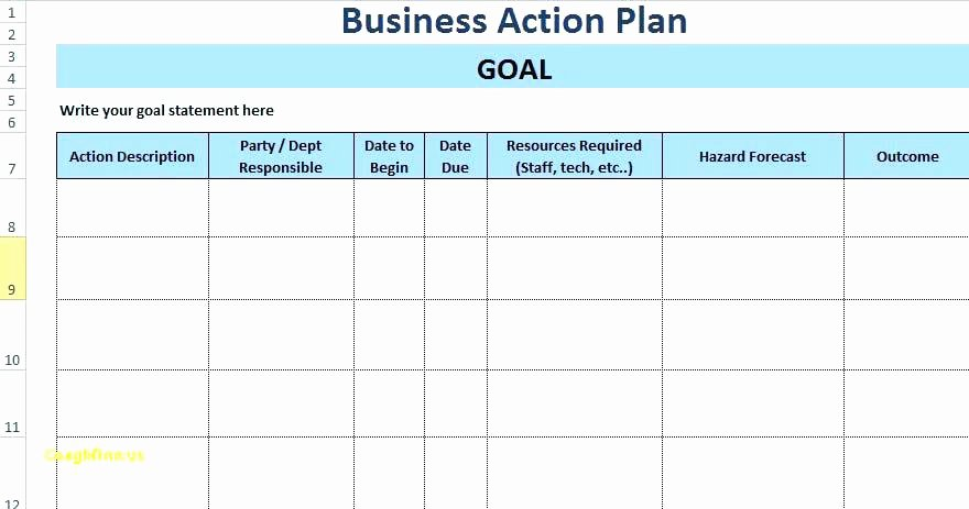 Project Action Plan Template Awesome Project Action Plan Template Excel – Template Gbooks