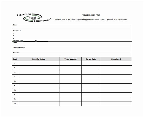 Project Action Plan Template Beautiful Project Action Plan Template Excel Project Action Plan