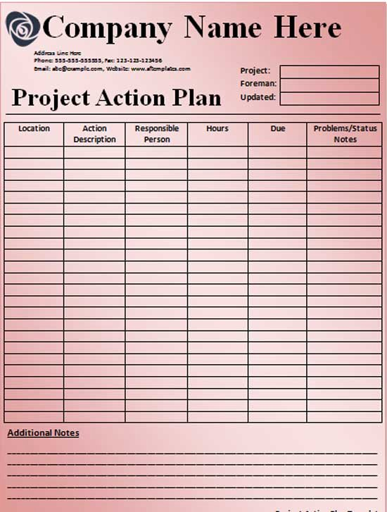 Project Action Plan Template Best Of Free Emergency Action Plan Template