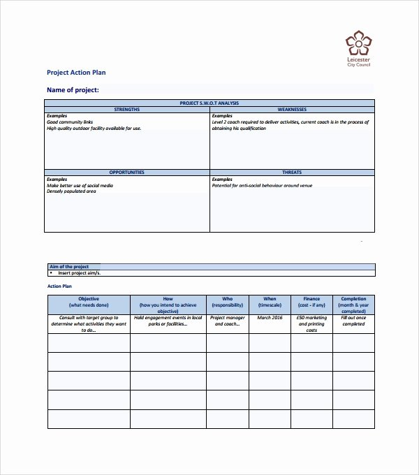 Project Action Plan Template Best Of Sample Action Plan Template Download Free Documents In