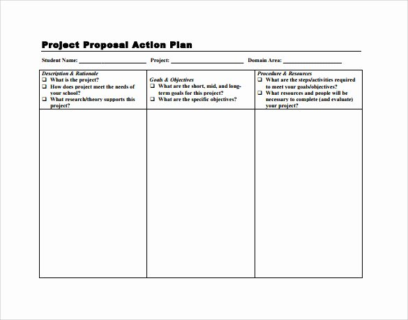 Project Action Plan Template Elegant Sample Project Action Plan Template 16 Documents In Pdf