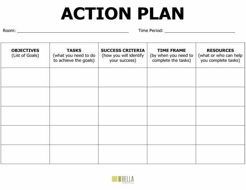 Project Action Plan Template Fresh Action Plan Template