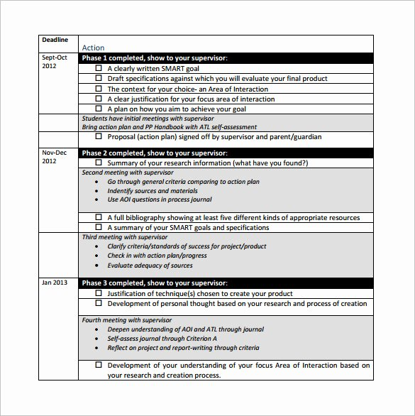 Project Action Plan Template Inspirational Project Action Plan Template 11 Free Pdf Word format