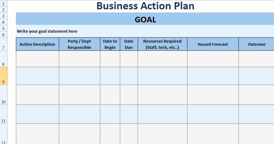 Project Action Plan Template Lovely 3 Free Project Action Plan Template Xls Free Excel