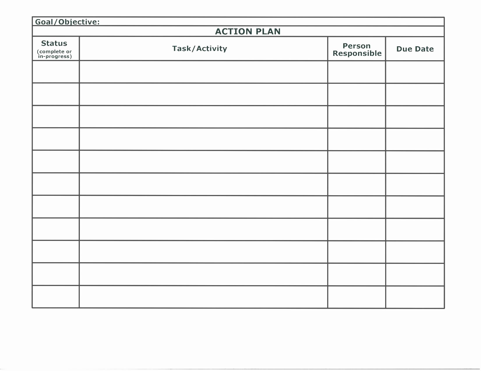 Project Action Plan Template Luxury Sample Project Action Plan Template In Excel Exceltemp