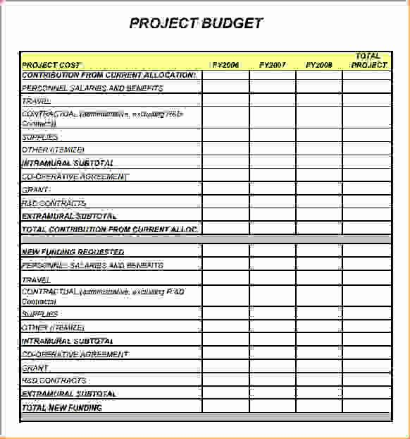Project Budget Template Excel Beautiful Project Bud Template Procedure Template Sample