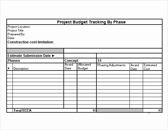 Project Budget Template Excel Inspirational Project Bud Template Project Bud Tracking Excel