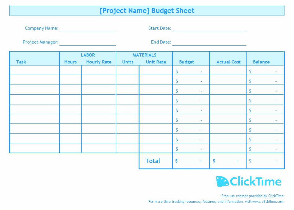 Project Budget Template Excel Lovely Business Bud Template
