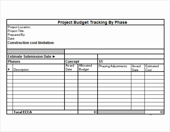 Project Budget Template Excel Luxury 10 Bud Tracking Samples