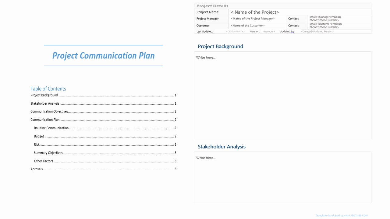 Project Communication Plan Template Beautiful Project Munication Plan Template Analysistabs