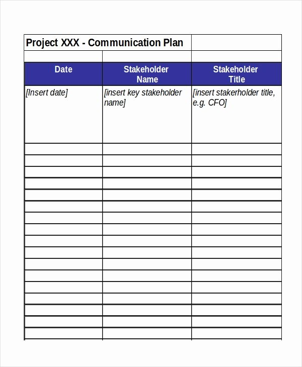 Project Communication Plan Template Inspirational Excel Project Plan Template 10 Free Excel Document
