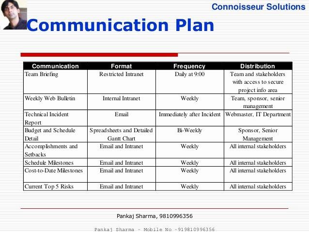 Project Communication Plan Template Lovely Project Munication Plan