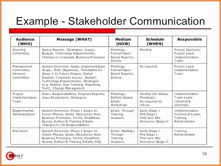 Project Communication Plan Template Luxury Template for Munication Plan – Picks