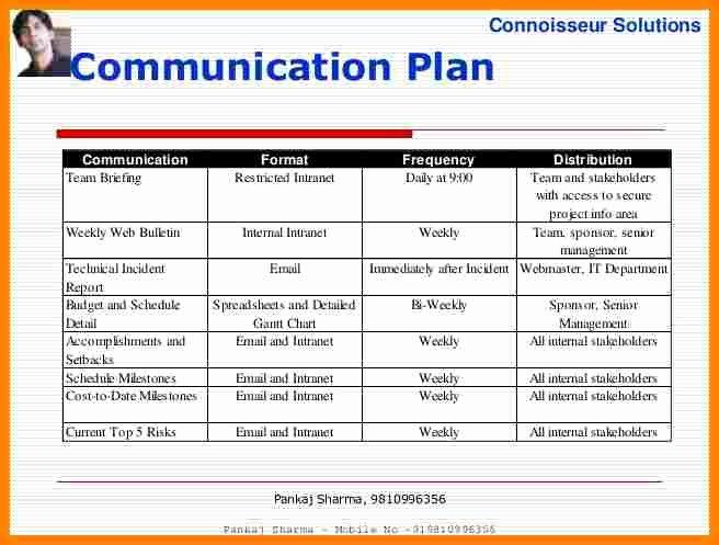 Project Communication Plan Template Unique 11 Munication Plan Project Management