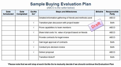 Project Evaluation Plan Template Best Of Increase Sales Buying Evaluation Plans