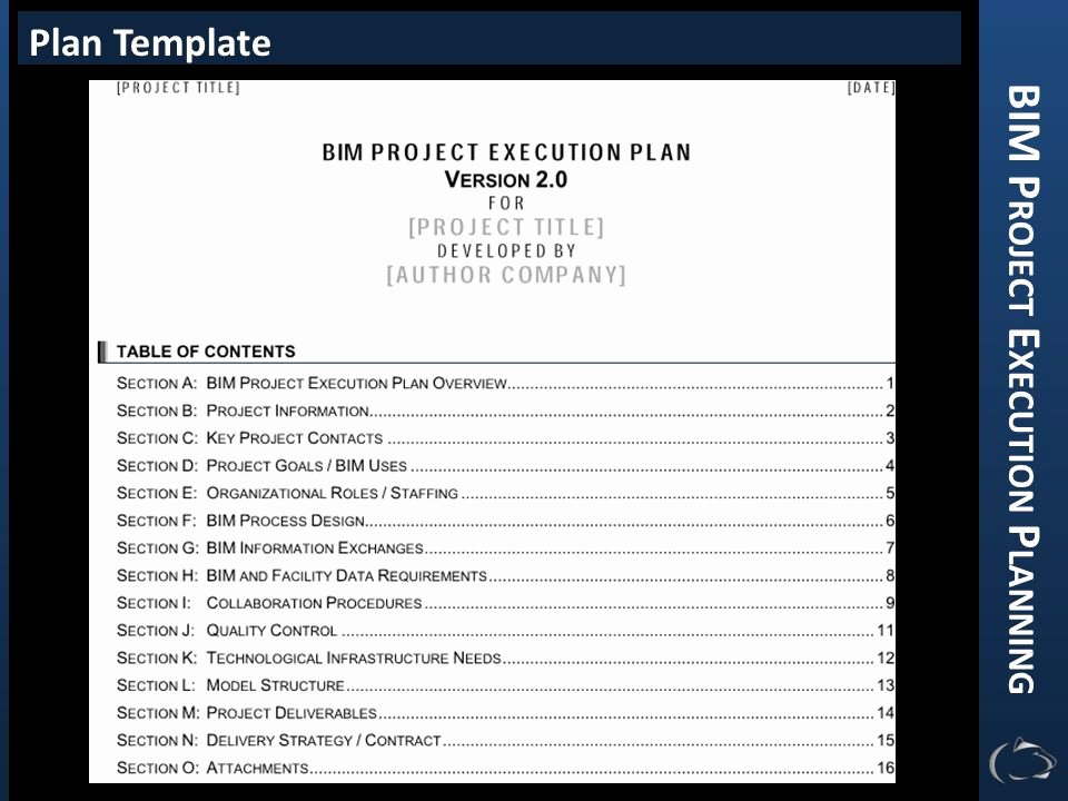 Project Execution Plan Template Fresh Bim Project Execution Planning Ppt Video Online