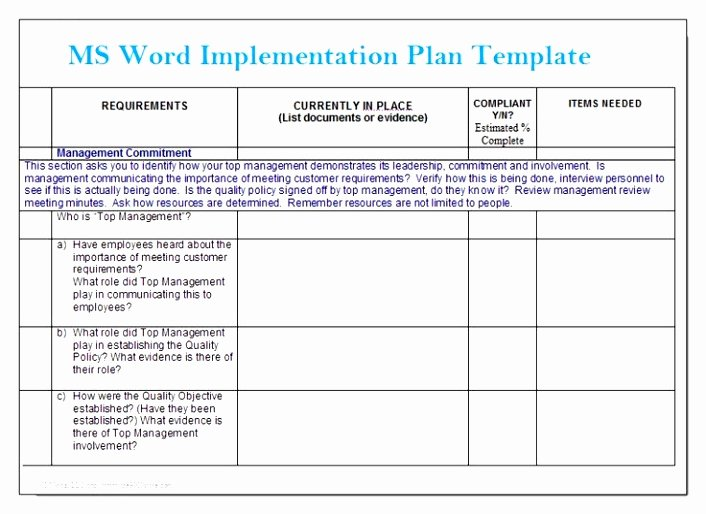 Project Implementation Plan Template Best Of Simple Implementation Plan Template to Pin On