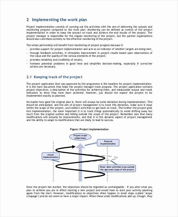 Project Implementation Plan Template Elegant 8 Project Implementation Templates Free Sample Example