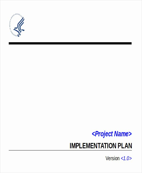 Project Implementation Plan Template Fresh 6 Implementation Plan Examples