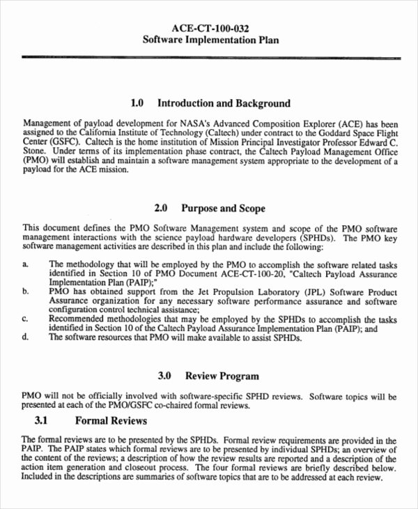 Project Implementation Plan Template Fresh Project Implementation Template 6 Free Word Pdf