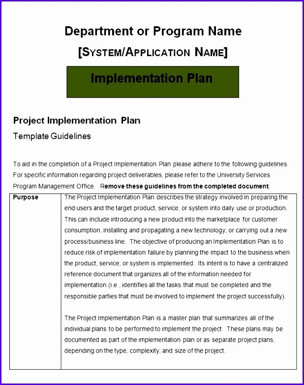 Project Implementation Plan Template Lovely 9 Excel Implementation Plan Template Exceltemplates