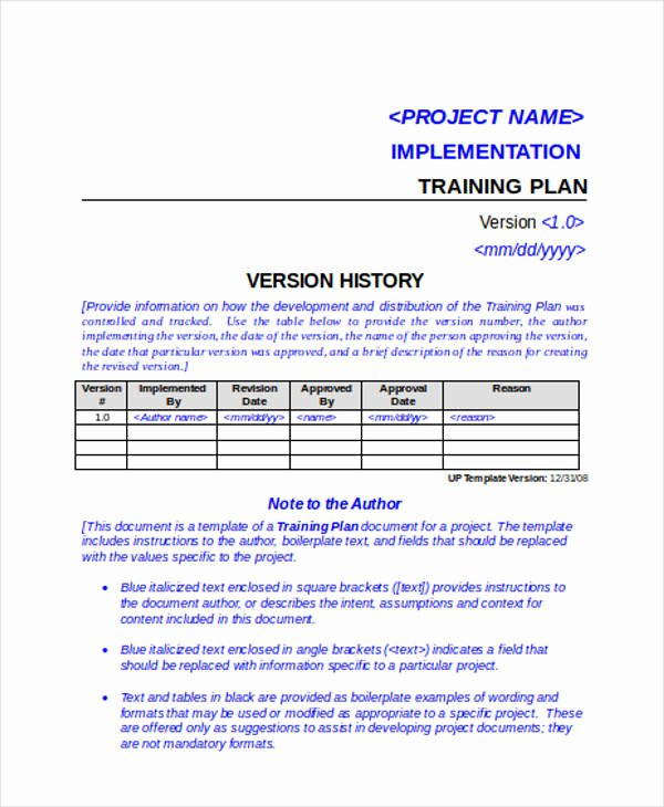 Project Implementation Plan Template Unique 46 Examples Of Implementation Plans Word Google Docs