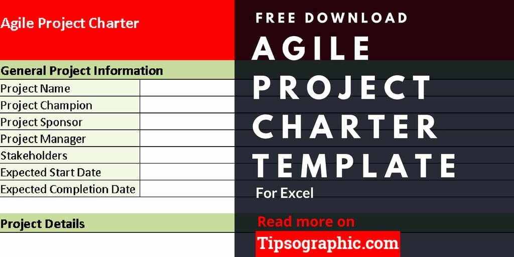 Project Management Charter Template Beautiful Agile Project Charter Template for Excel Free Download